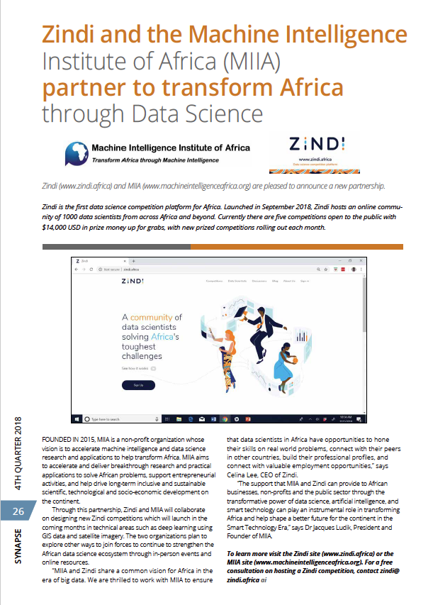 Zindi and MIIA partner to transform Africa through Data Science